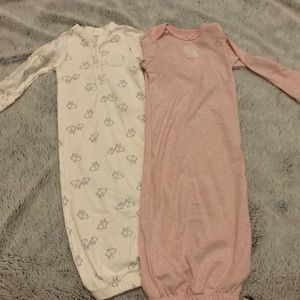 EUC Carter's Baby Gowns Bunny Design 3 Month CUTE